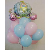 Букет шариков с Золушкой в карете