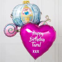 Набор шариков Золушка в карете с сердцем и вашими пожеланиями