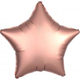 Шар-звезда Розово-золотой, сатин