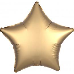 Шар-звезда Золотая, сатин