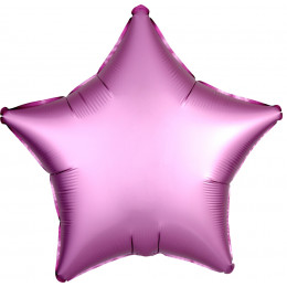 Шар-звезда Розовая, сатин