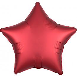 Шар-звезда Красная, сатин
