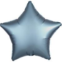 Шар-звезда Голубой, сатин