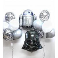 Набор шаров Звёздные Войны с R2D2 и Дартом Вейдером