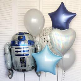 Композиция из шаров Р2Д2 из Звёздных Войн