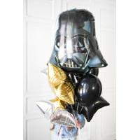 Букет шаров со шлемом Дарта Вейдера и звёздами