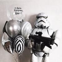 Сет шаров на День Рождения Штурмовик с вашей надписью
