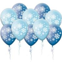Воздушные шары со снежинками