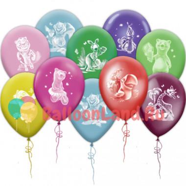 Воздушные шары 'Веселый зоопарк' с животными