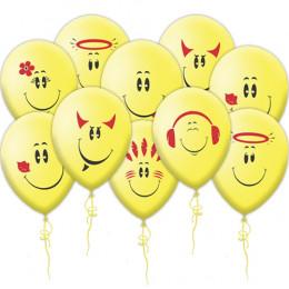 Воздушные шары Весёлые смайлы
