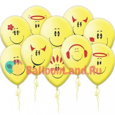 Воздушные шары 'Весёлые смайлы'
