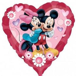 Шар-сердце Микки и Минни