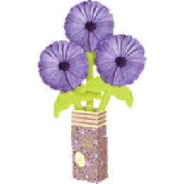 Цветы из шаров в бумажной вазе Букет маргариток