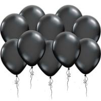 Воздушные шары черные, металлик