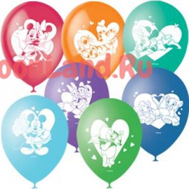 Воздушные шары 'Герои Дисней и Любовь'