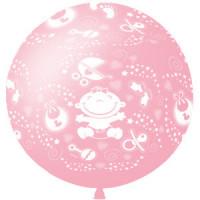 Метровый шар На рождение девочки