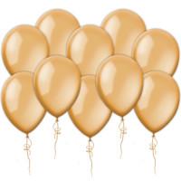 Воздушные шары оранжевые, металлик