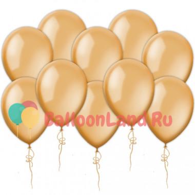 Воздушные шары оранжевые металлик