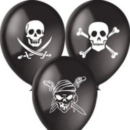 Воздушные шары Пиратские черные