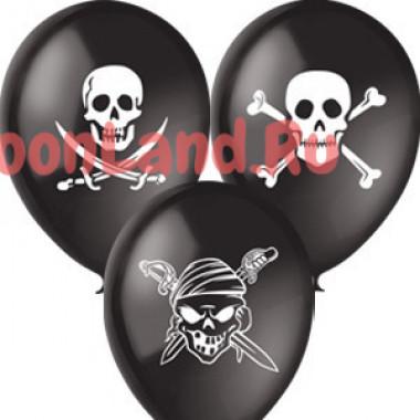 Воздушные шары 'Пиратские' черные