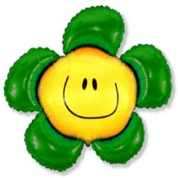 Фигурный шар Цветочек зеленый