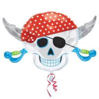 Фигурный шар Череп-пират