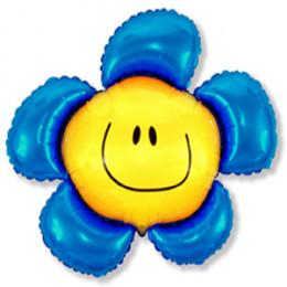 Фигурный шар Цветочек синий