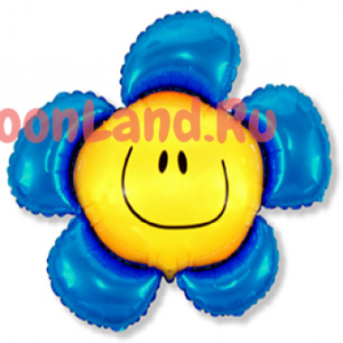 Фигурный шар 'Цветочек синий'