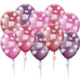Воздушные шары с розами