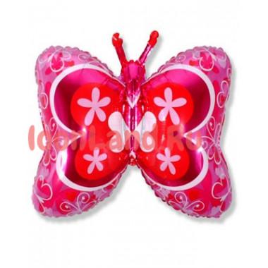 Фигурный шар 'Бабочка розовая'