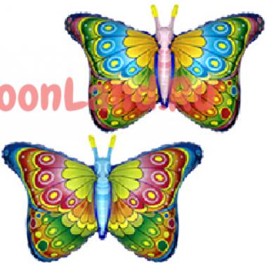 Фигурный шар 'Бабочка радужная'
