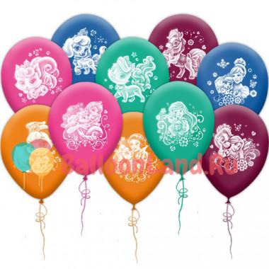 Воздушные шары 'Принцессы Дисней и питомцы'
