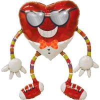 Ходячий шар Сердце в очках