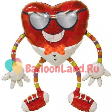Ходячая фигура 'Сердце в очках'