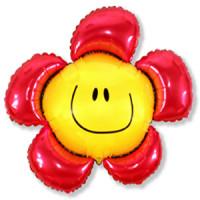 Фигурный шар Цветочек красный