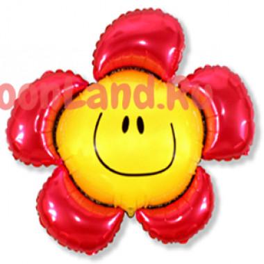 Фигурный шар 'Цветочек красный'