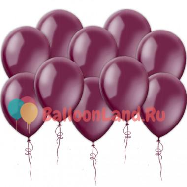 Воздушные шары цвета бургундия