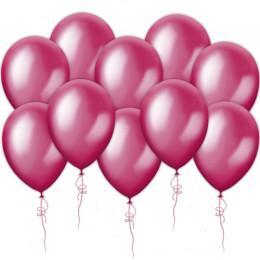 Воздушные шары розовые, металлик