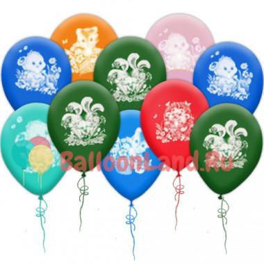 Воздушные шары 'Милые зверята'