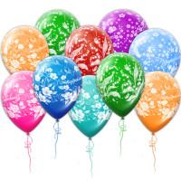 Воздушные шары Поздравляем с цветами
