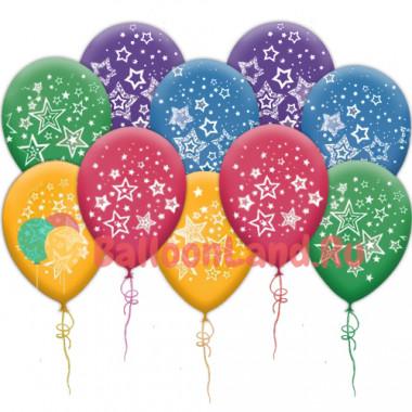 Воздушные шары со звездами