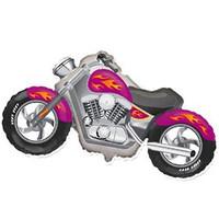 Фигурный шар Малиновый мотоцикл