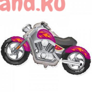 Фигурный шар 'Малиновый мотоцикл'