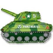 Фигурный шар Зеленый танк