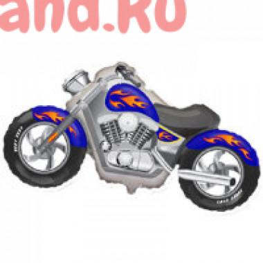 Фигурный шар Синий мотоцикл