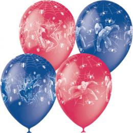 Воздушные шары из латекса Человек-Паук, красно-синие