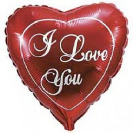 Шар-сердце I love you красный