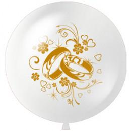 Большой шар Свадебные кольца, 91 см