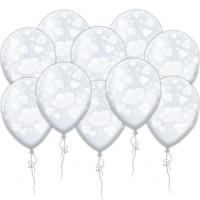 Воздушные шары Сердечки прозрачные