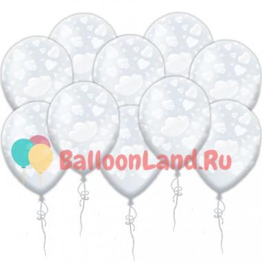 Воздушные шары 'Сердечки' прозрачные